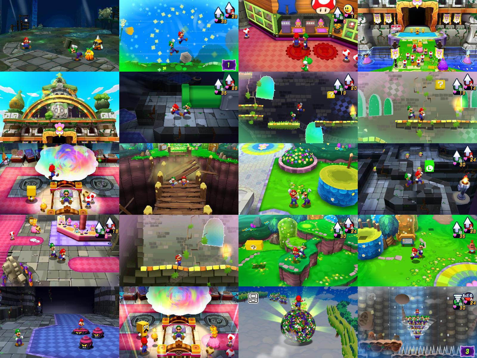 El Pixel Art 3d De Mario Luigi Dream Team Hobbyconsolas Juegos