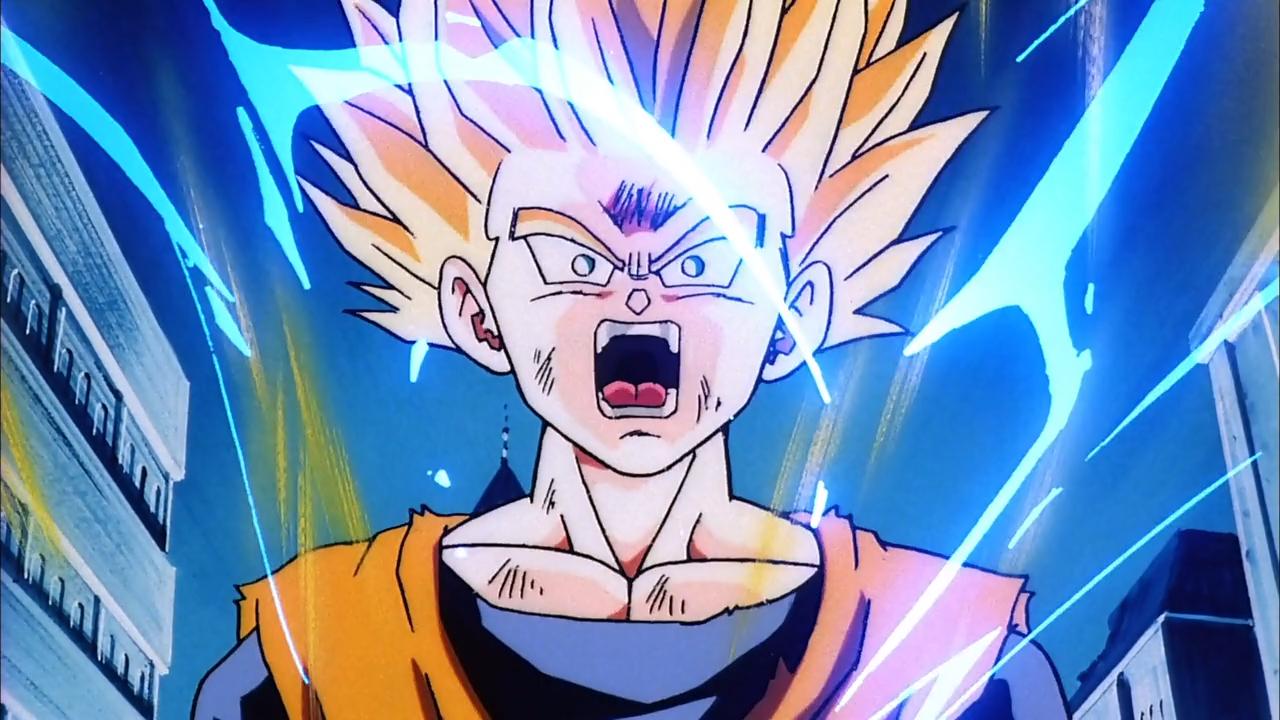 Crítica de Dragon Ball: Los guerreros de plata ...  Gohan Ssj2 Vs Bojack