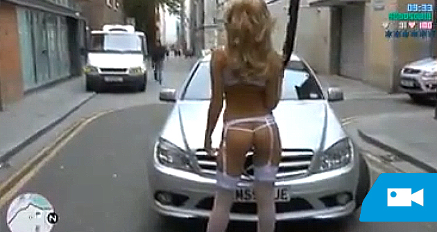 Recrea GTA V en lencería sexy