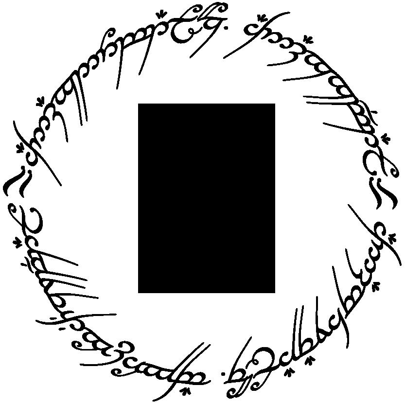 Resultado de imagen de letras del anillo del señor de los anillos