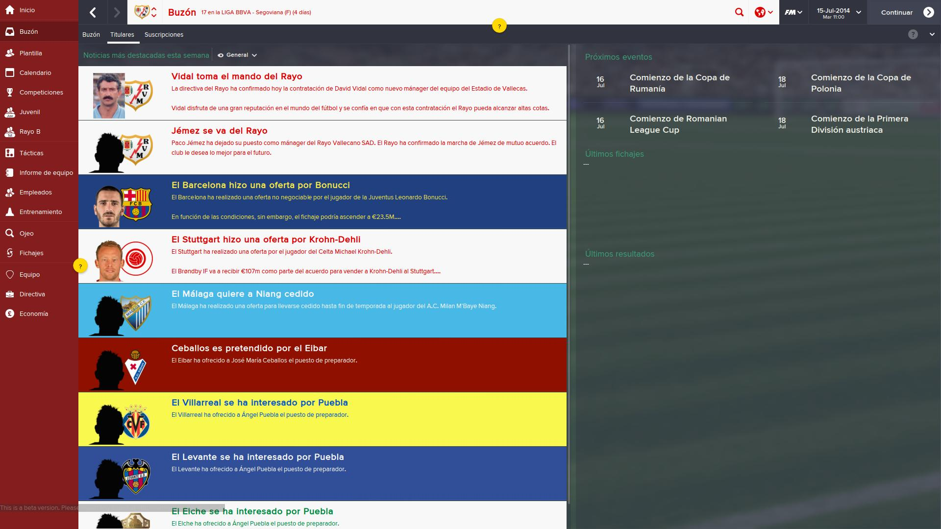 Avance Stuttgart avance de football manager 2015 para pc hobbyconsolas juegos