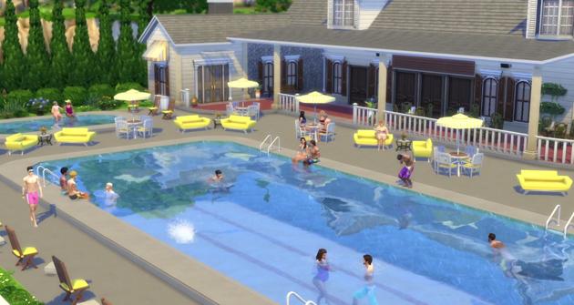 Las piscinas regresan a los sims 4 gratuitamente for Piscina sims 4