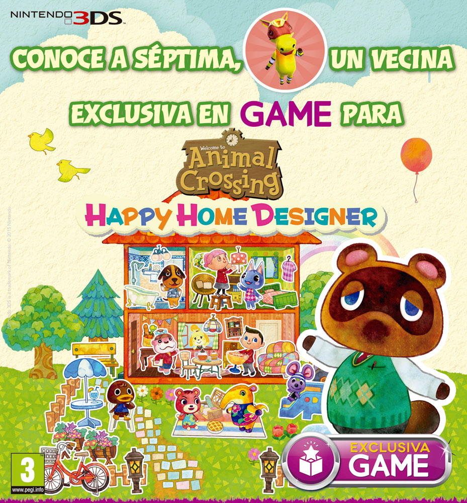 Animal Crossing Happy Home Designer, nuevo personaje en la Nintendo Zone de GAME - HobbyConsolas