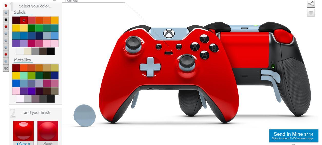 Xbox One Mando Elite - ya puedes personalizar el color de sus piezas ... 0c3293860b8