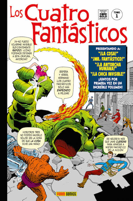 4 Fantásticos Marvel Gold 1 Portada