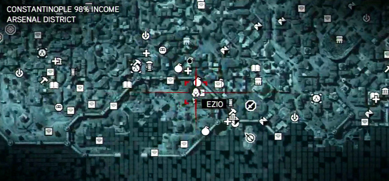 Assassin's Creed Mapa, mapa, iconos mapa,