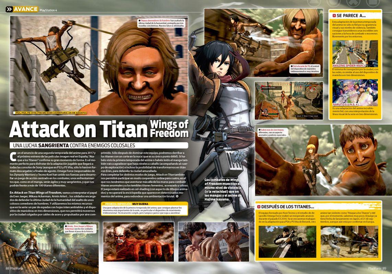 Avance de Attack on Titan en Playmanía 213