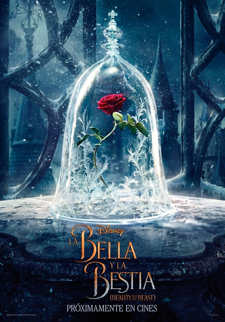 La Bella y la Bestia primer póster de la película con Emma Watson y Dan Stevens