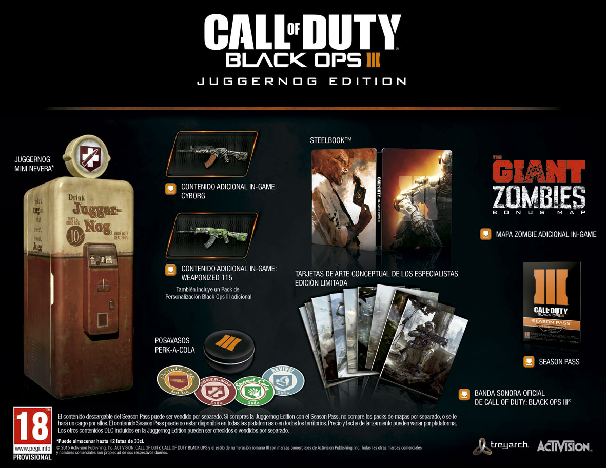 Call of Duty Black Ops III Edición Juggernog