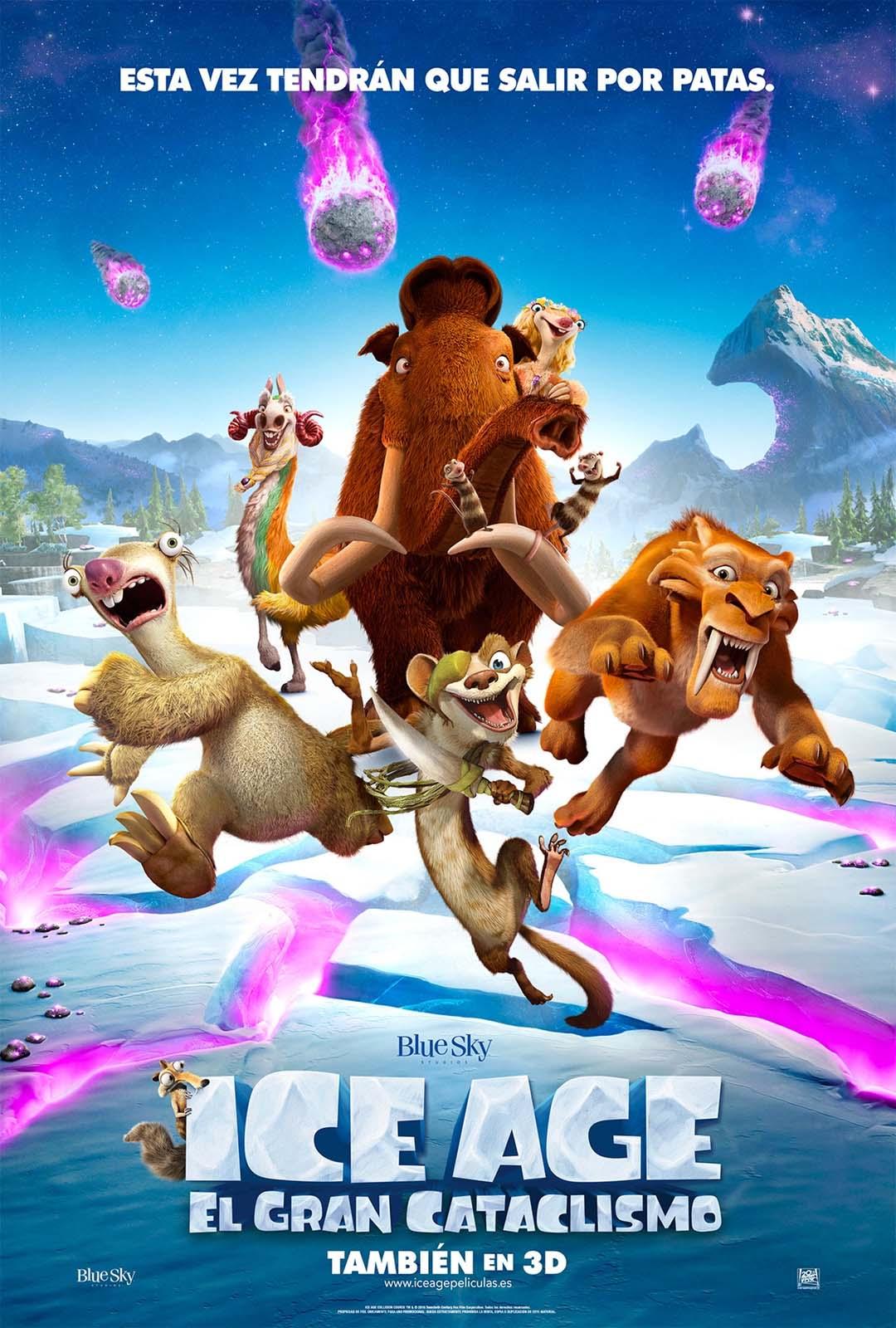Póster de la quinta película de Ice Age