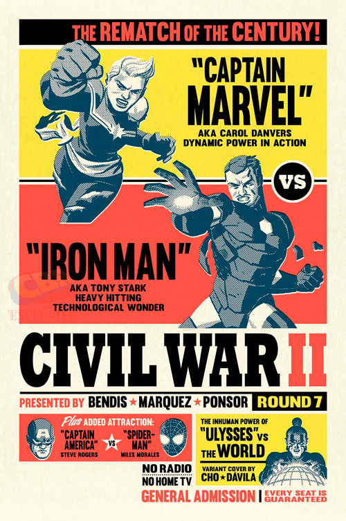 Civil War II: Iron Man vs Capitana Marvel