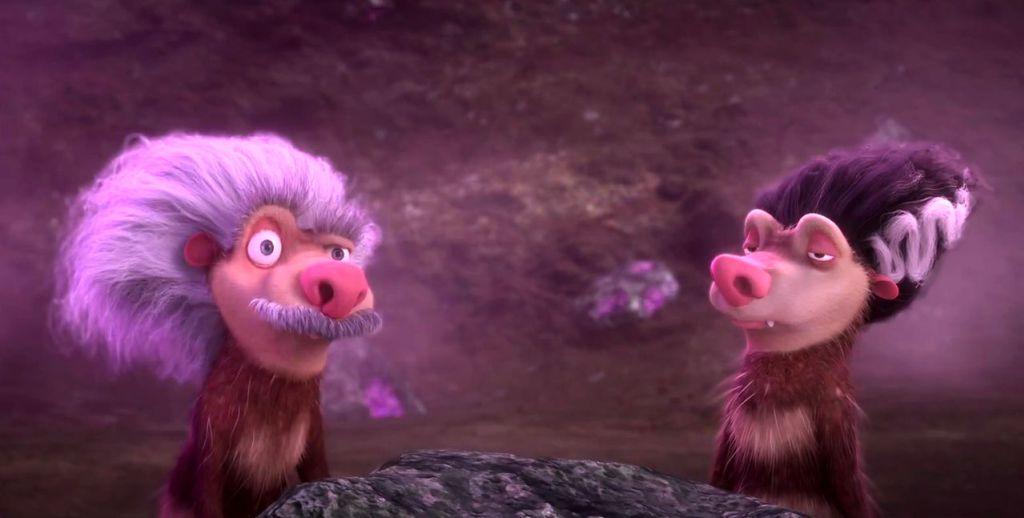 Crash y Eddie en Ice Age: el gran cataclismo