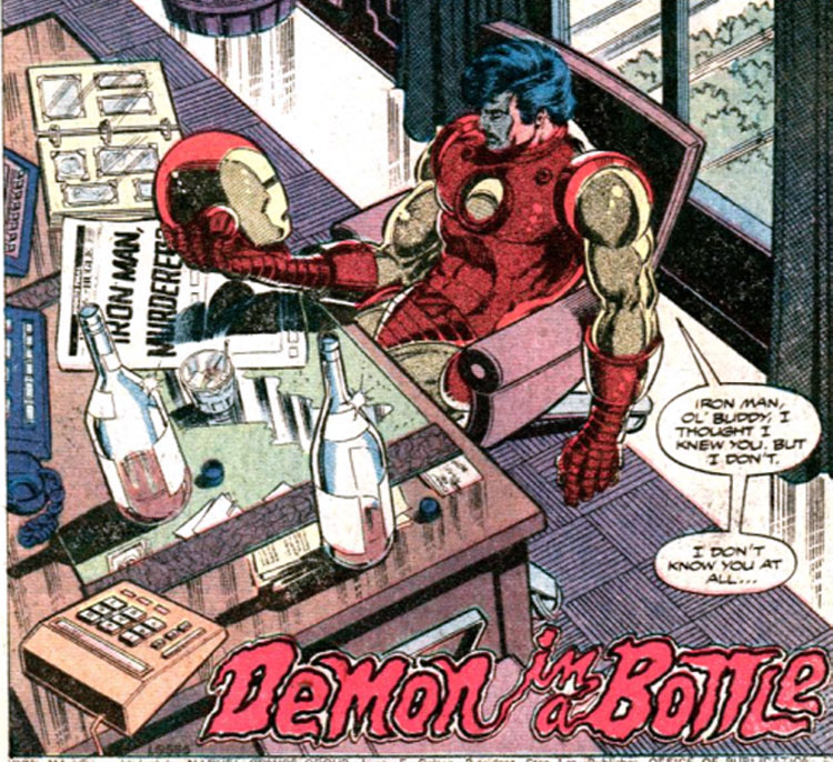El Demonio en una botella_Iron Man_John Romita Jr.