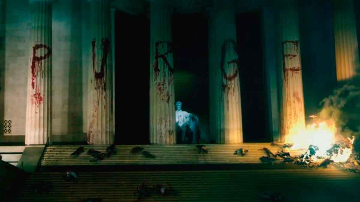 Election: la noche de las bestias - Monumento Lincoln