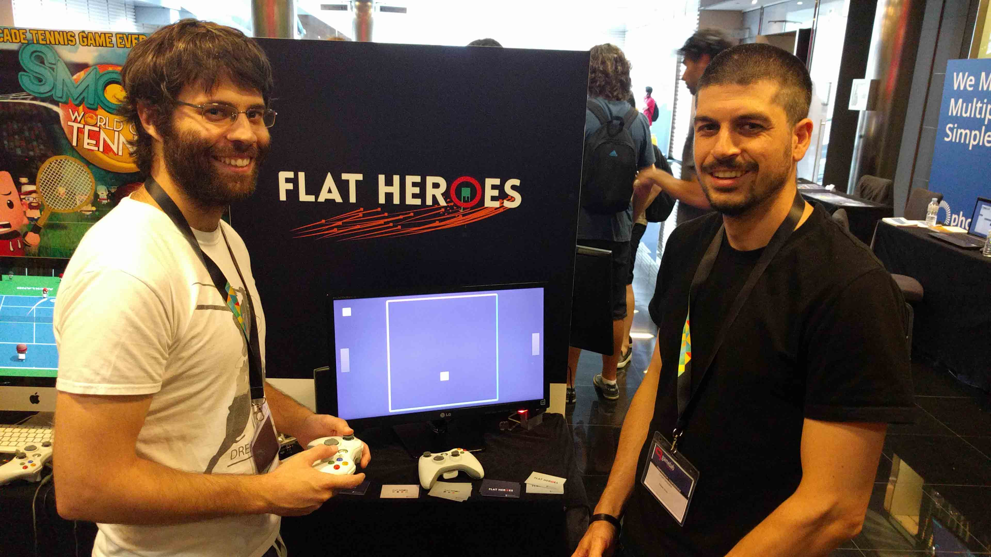Flat Heroes Parallel Circles Gamelab 2016