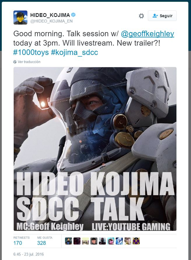 Hideo Kojima nuevo tráiler twitter