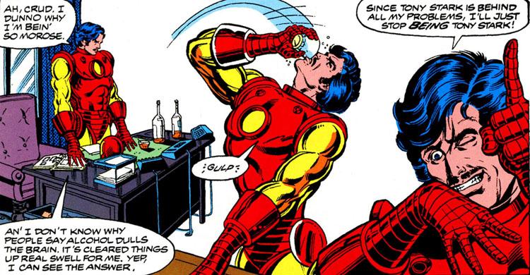 Iron Man Demon in a bottle_Tony Stark Borracho