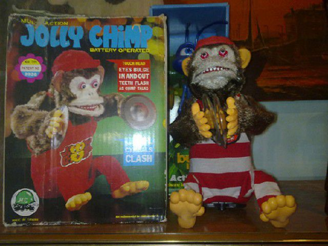 mono como platillos toy story jolly chimp