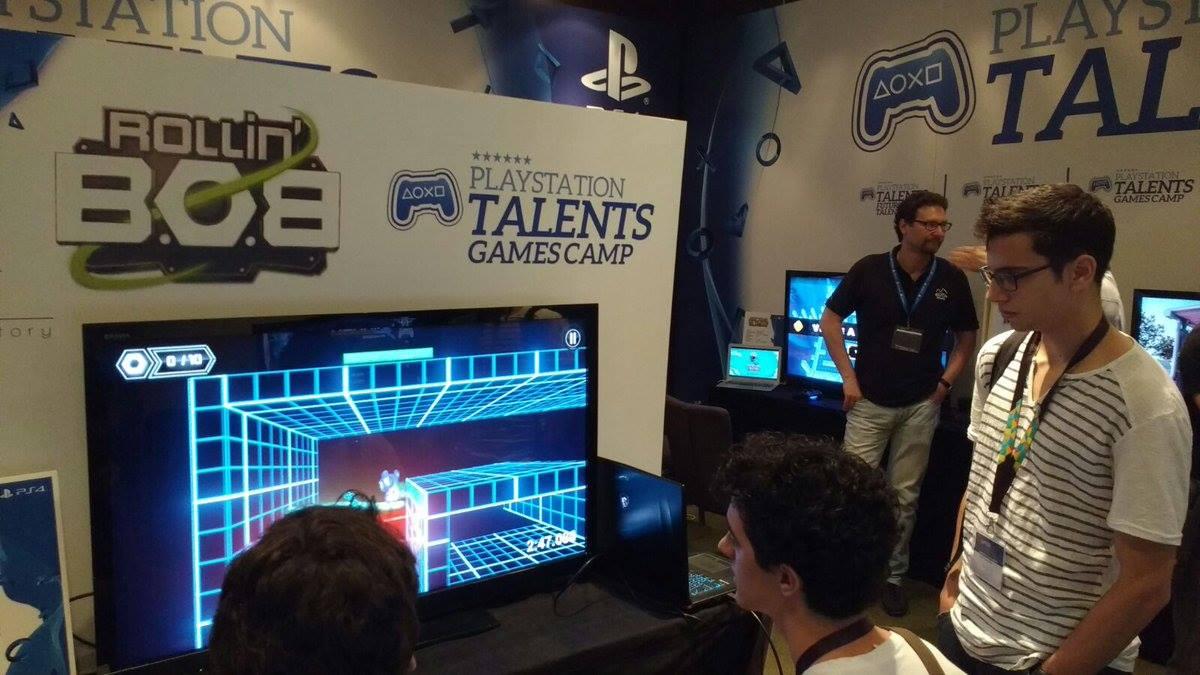 Moon Factory mostrando Rollin' B.O.B. en Gamelab 2016 2