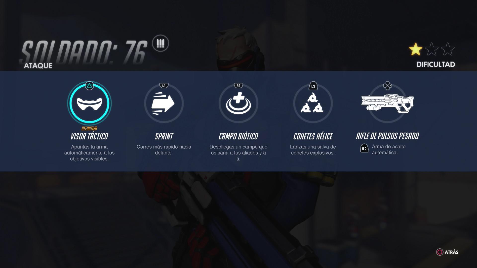 Personajes de Overwatch - Soldado 76