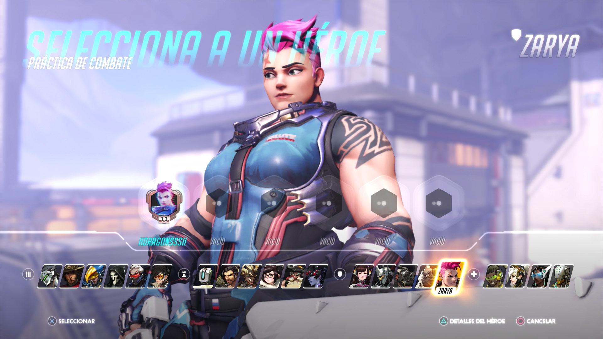 Personajes de Overwatch - Zarya