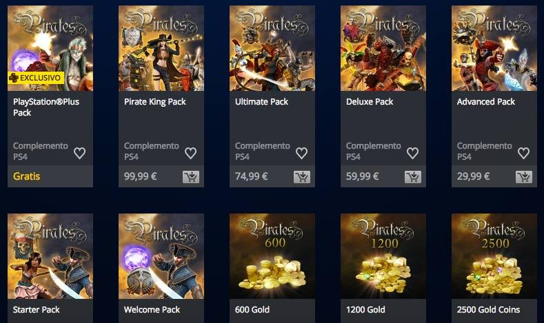 Packs de contenido de Pirates