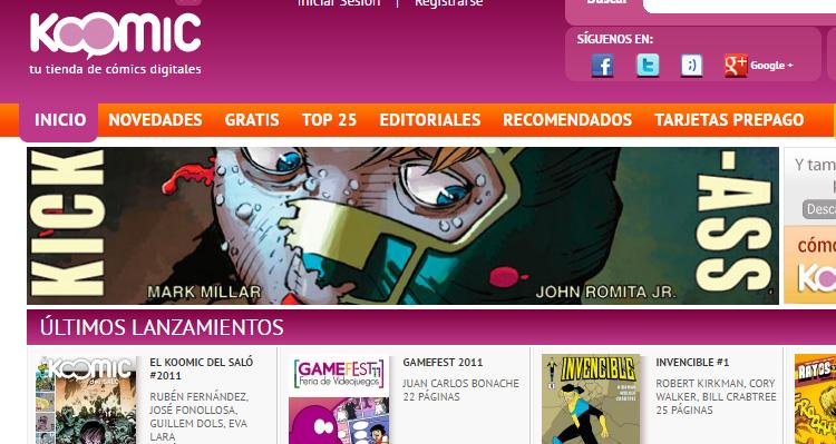 Páginas de cómic digital