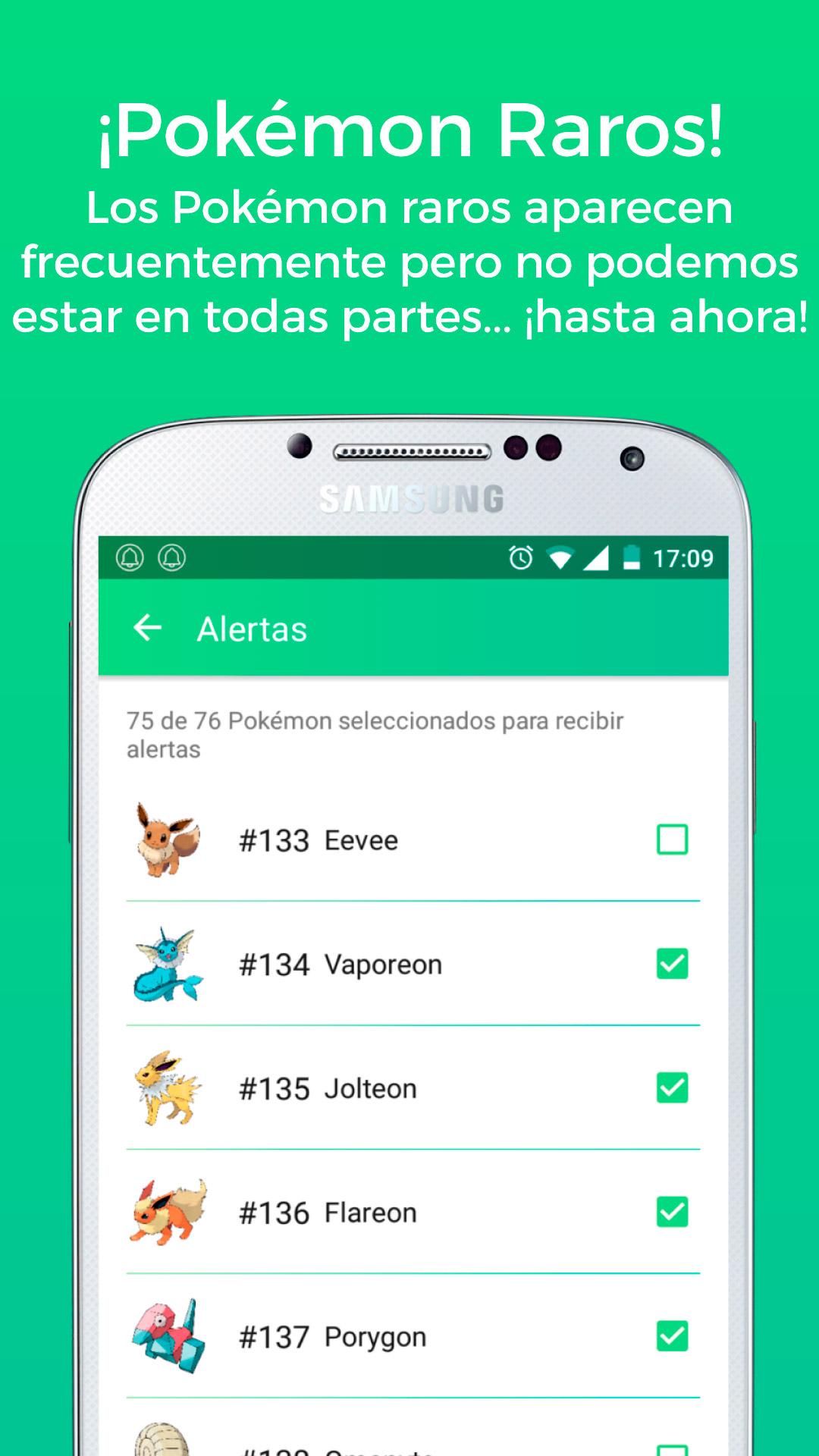 PokéAlert app - Android