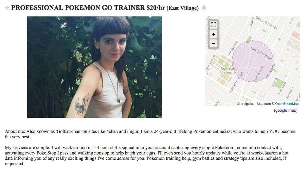 Pokémon Go entrenadores profesionales