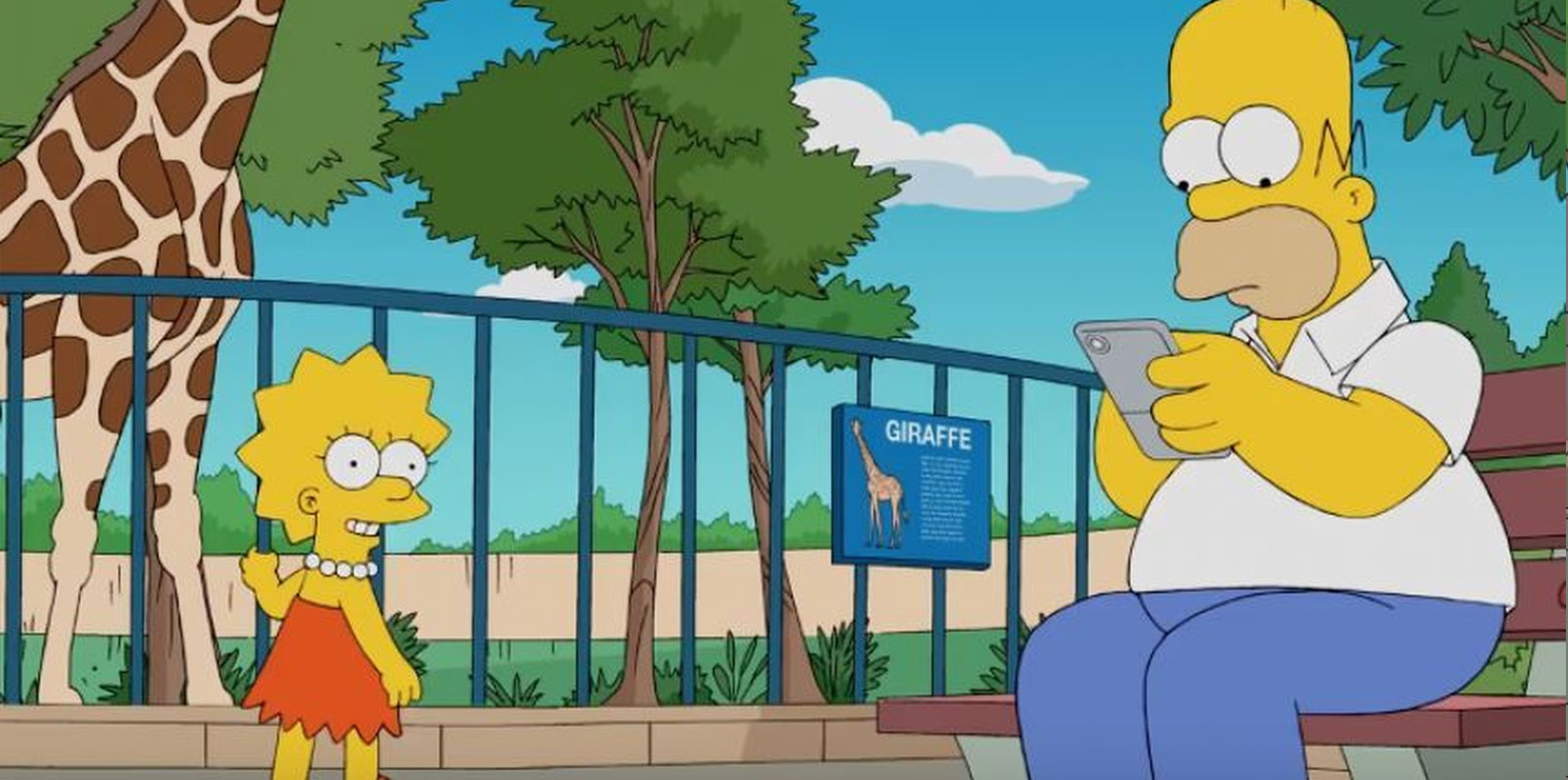 Homer móvil jugando Pokémon Go Lisa