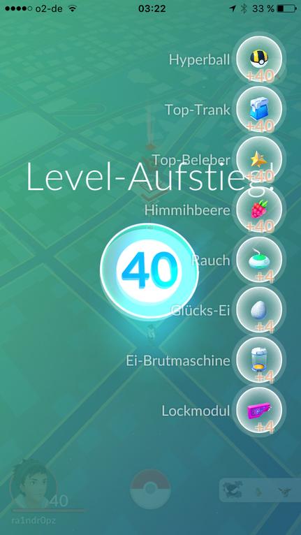 Pokémon GO Nivel 40