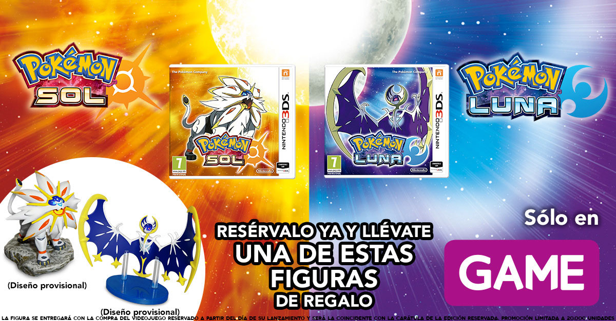 Pokémon Sol y Luna - Regalo GAME