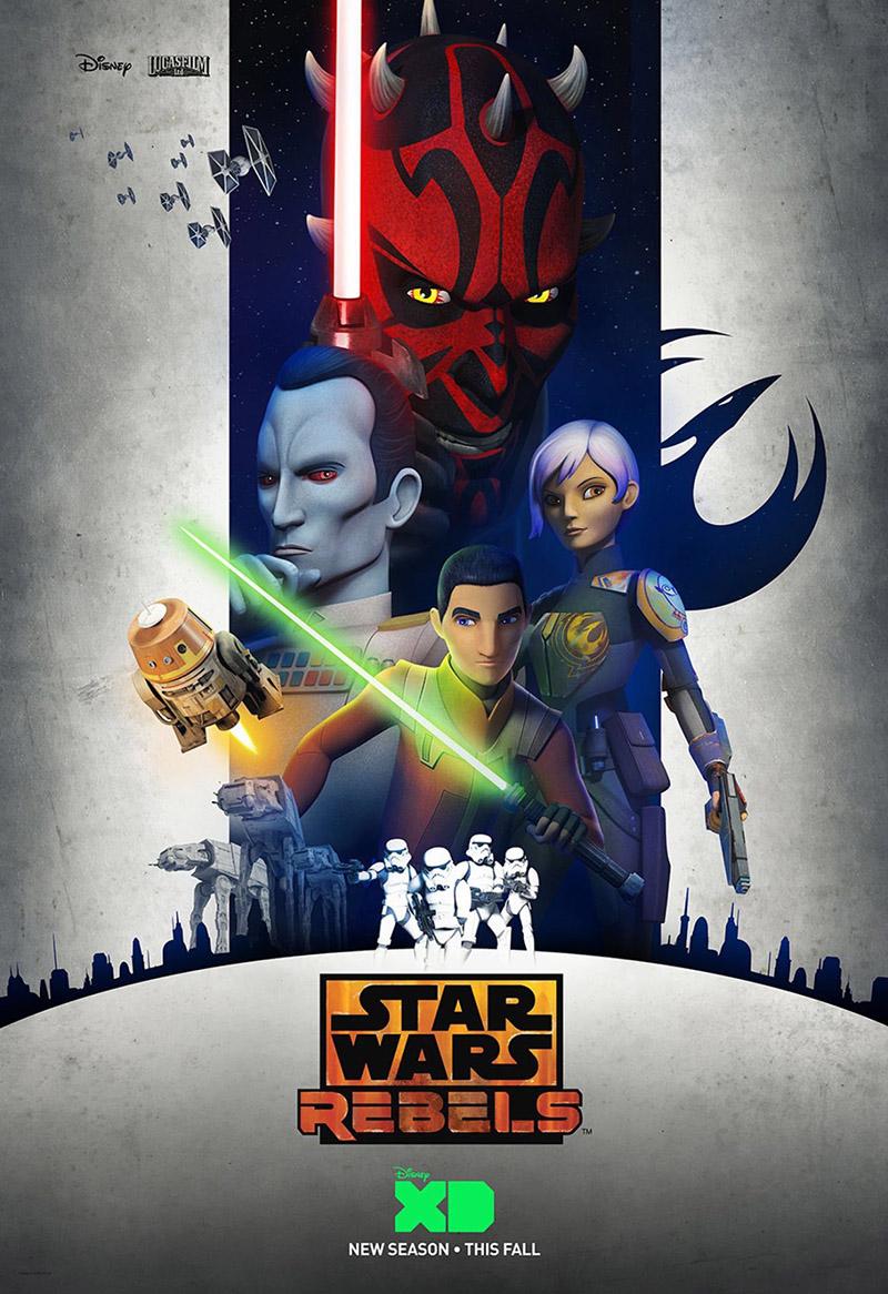 Poster tercera temporada star wars rebels