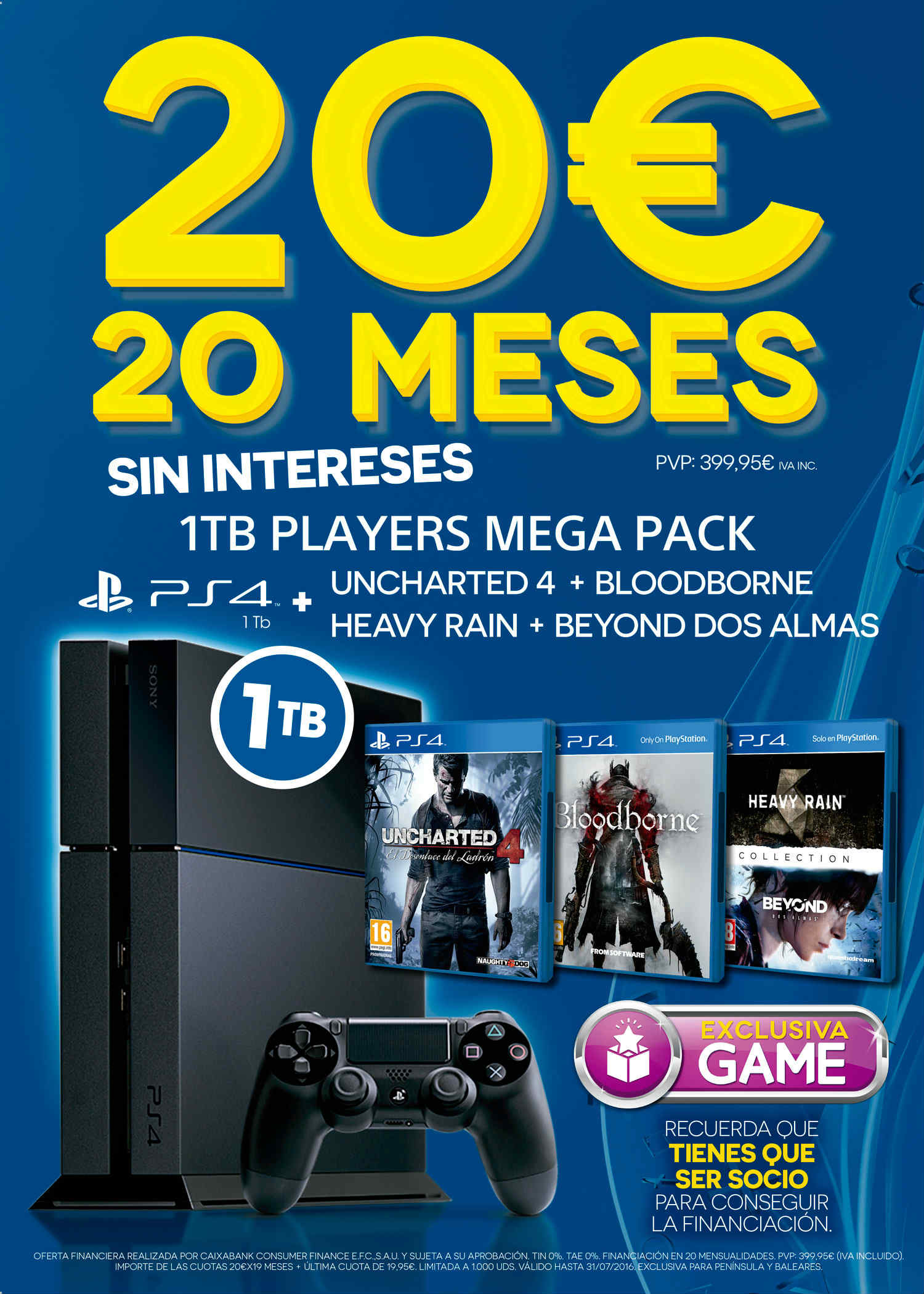 PS4 Players Mega Pack de GAME