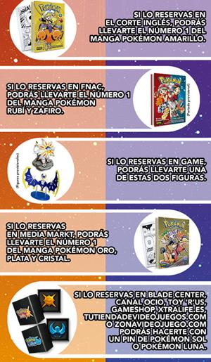 Regalos por reservar Pokémon Sol y Luna