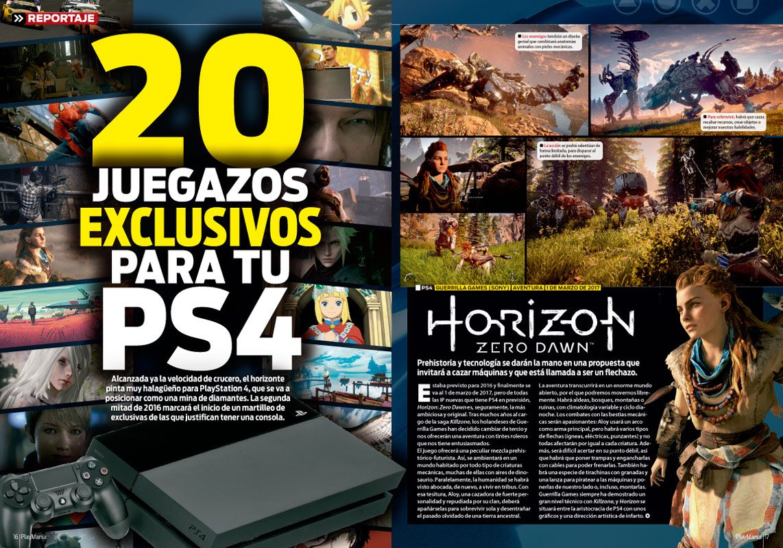 Reportaje exclusivos PS4 en Playmania 213