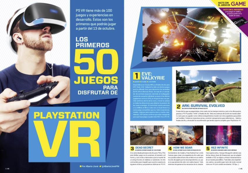 Reportaje HC 301 Los primeros 50 juegos para disfrutar de PlayStation VR