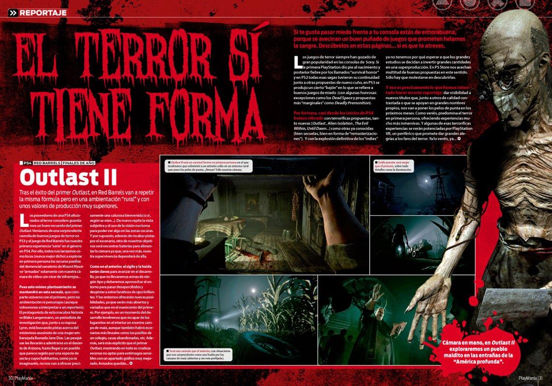 Reportaje juegos de terror en Playmania 213
