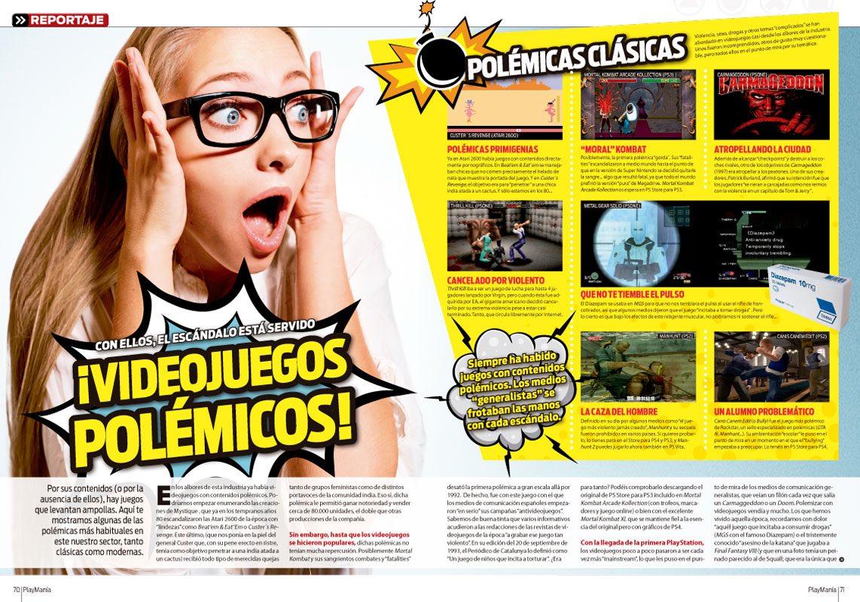 Reportaje videojuegos polémicos en Playmania 213