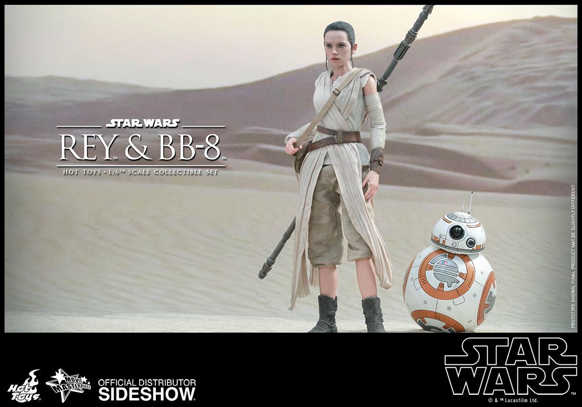 Figura de Rey con BB-8. Star Wars. Hot Toys