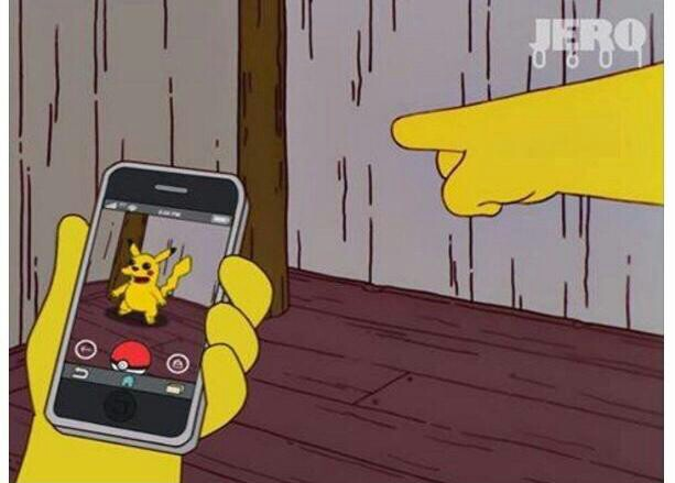 Fake de Pokemon Go en Los Simpsons