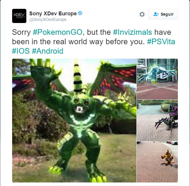 Sony XDEV Invizimals Pokemon Go