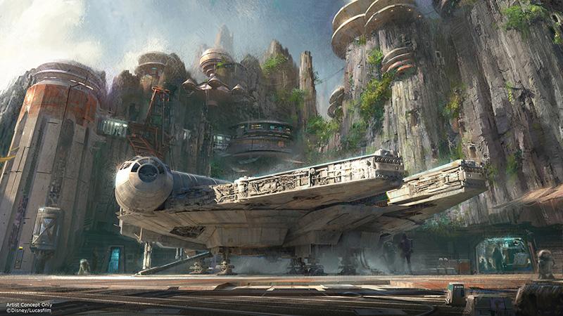 Star Wars Land Imagen conceptual halcon milenario