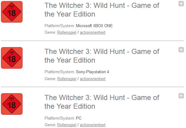 The Witcher 3 GOTY