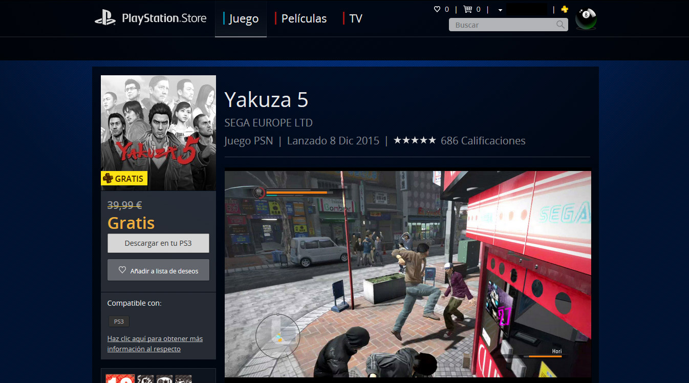 Yakuza 5 gratis