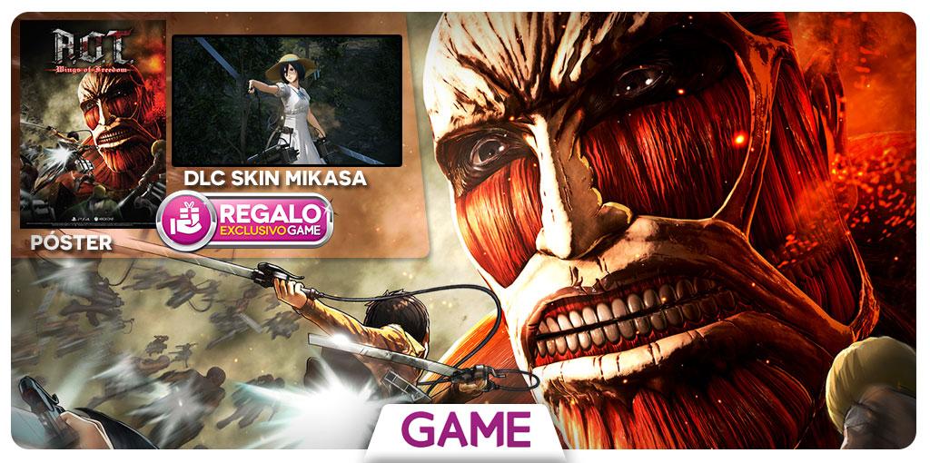 Ataque a los Titanes - Regalo reserva en GAME
