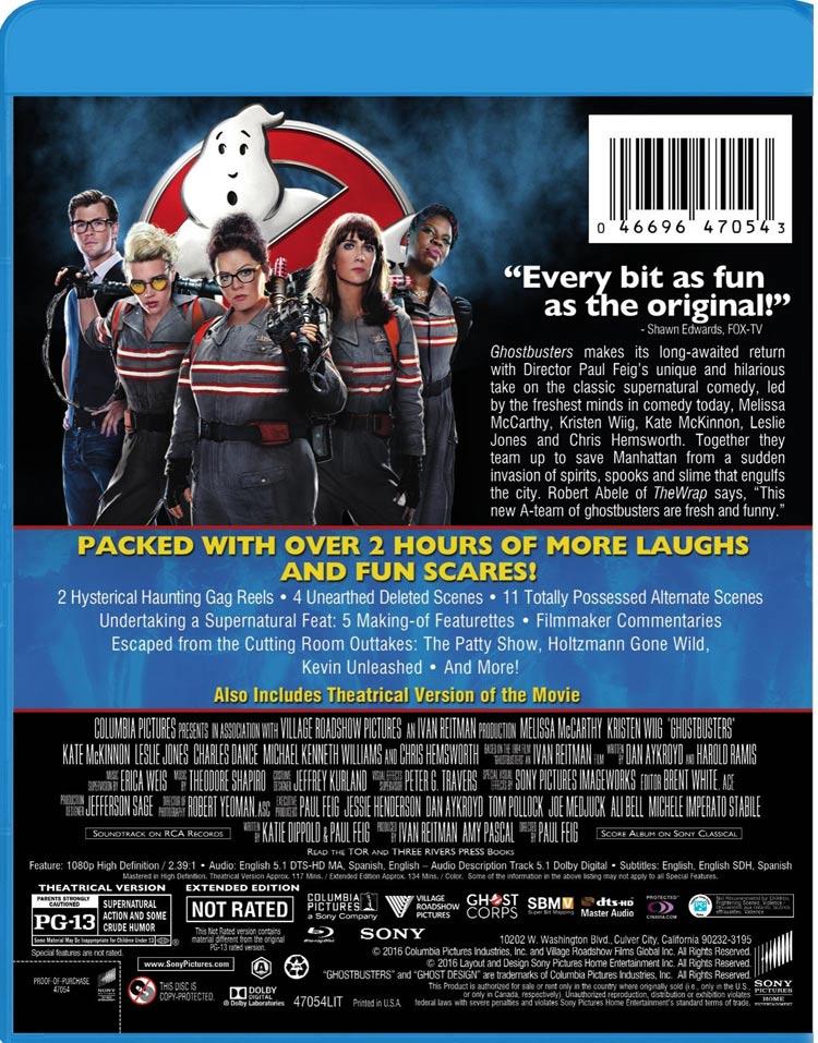 2016, Blu-Ray, Ghostbusters