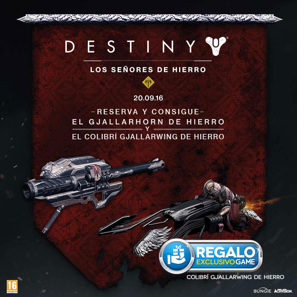 Destiny Los señores de Hierro GAME