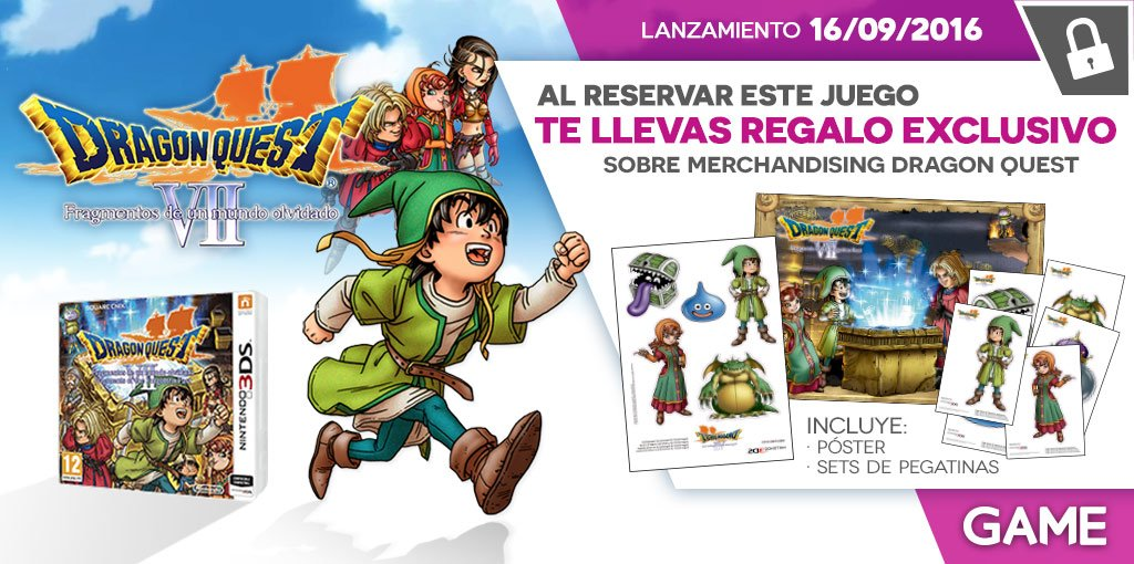 Dragon Quest VII regalos de reserva en GAME