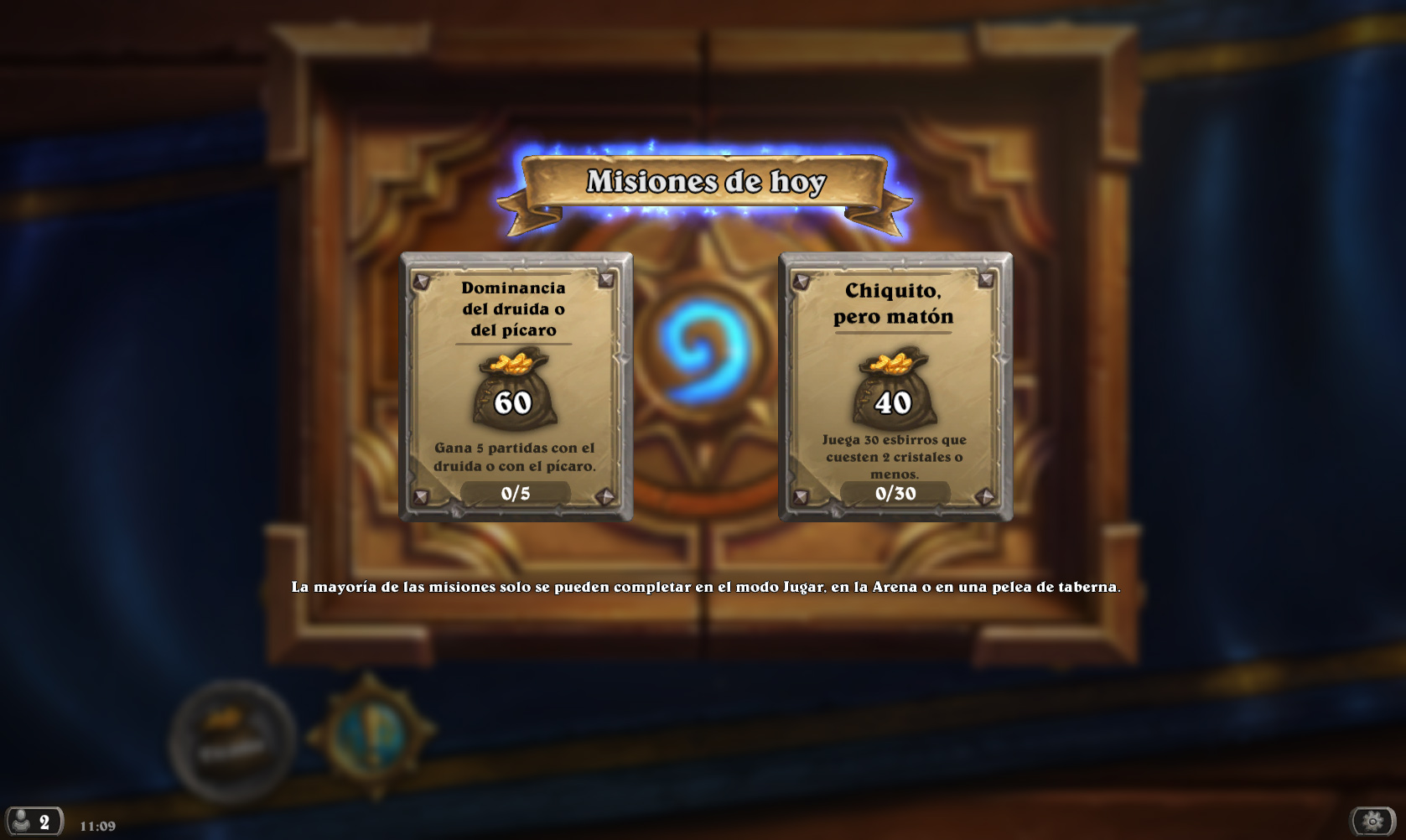 Hearthstone - Misiones diarias